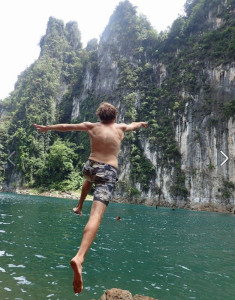 Jake Anderson Cliff Diving in Thailand