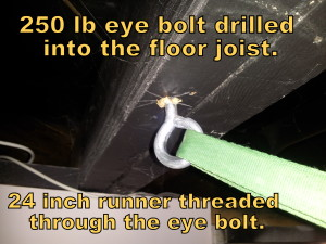 Eye Bolt for Hammock
