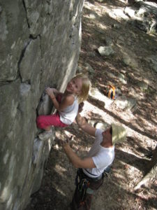 Ruthie Bouldering at HCR